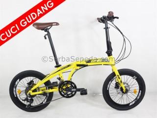 "Cuci Gudang BNB Nich Pro 2 x 9 Speed Kuning (20"")"