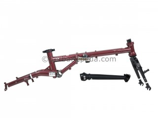 "Fnhon Frame Set Gust 16"" V-brake Agate Red + Handlepost"