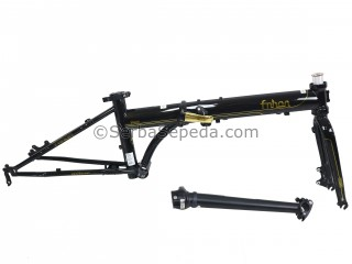 "Fnhon Frame Set Storm 20"" Disc Brake Golden Black Edition + Handlepost"