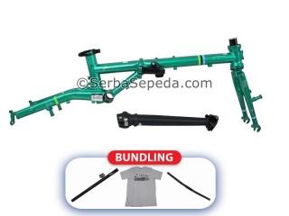 "Fnhon Frame Set Gust Strip Series + Handlepost V-Brake (16"") + Fnhon Handlebar + Fnhon Seatpost + Fnhon T-Shirt Gust L"