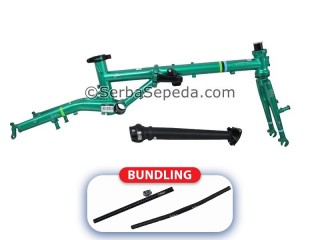"Fnhon Frame Set Gust Strip Series + Handlepost V-Brake (16"") + Fnhon Handlebar + Fnhon Seatpost"